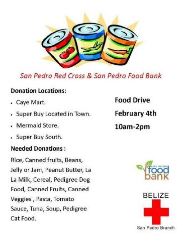 Food Drive Belize Red Cross San Pedro Branch