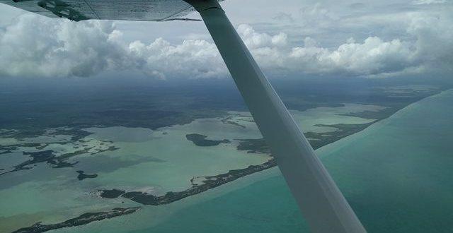 Flying in Belize