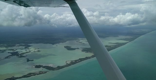 Flying in Belize