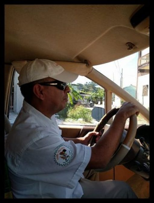 Ambergris Caye Belize Taxi Cab