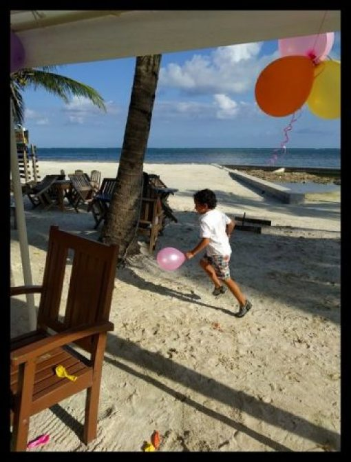 Beach Bar Kids Party Belize