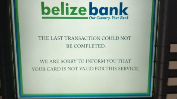 Belize Banking and ATM Fees
