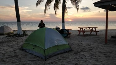 Sunset on Goff's Caye