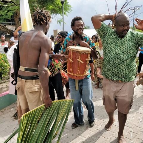 Garifuna Drummer