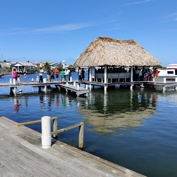 Water taxi dock San Pedro, Ambergris Belize