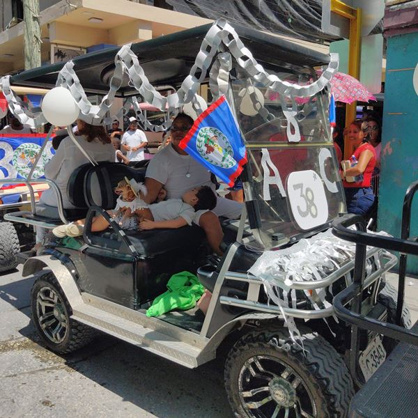 Parade float  ABC Preschool Ambergris Caye