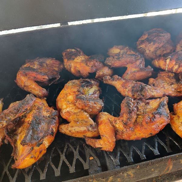 Barbecue chicken downtown San Pedro