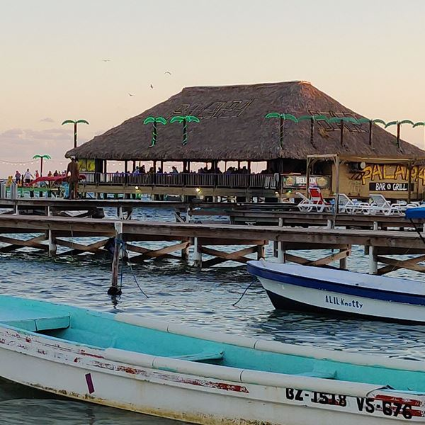 Popular over the water Beach Par in Belize by tacogirl blog San Pedro