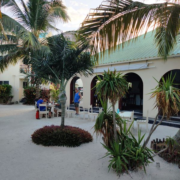 Dog House open air Ambergris Caye Restaurant