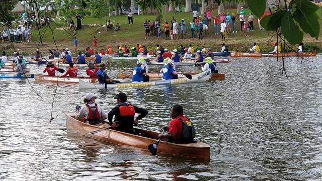Belize River Challenge Canoe race