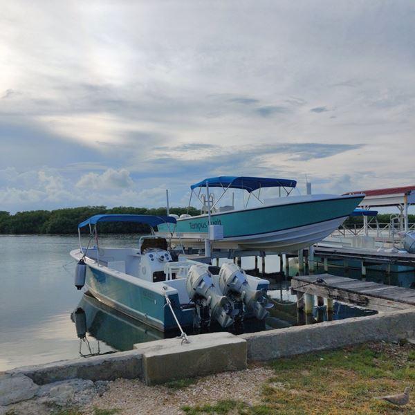 Boats in Belize