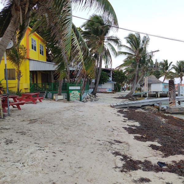 Beach  downtown San Pedro Belize