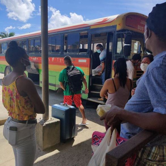 Belize bus terminal Belmopan