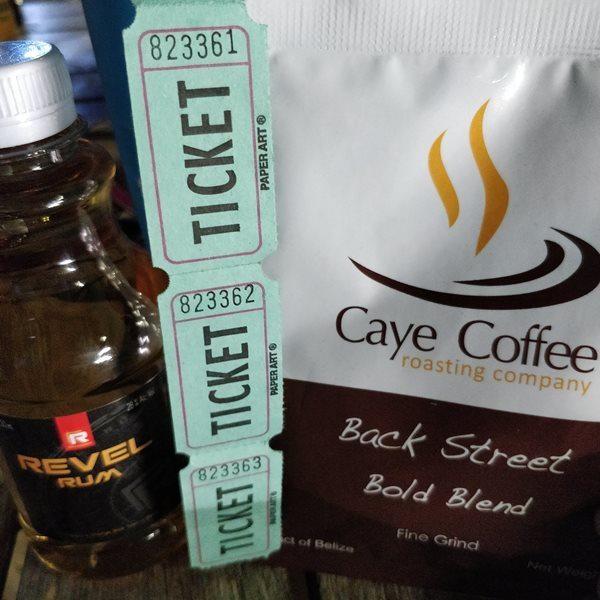 wheel of fortune prizes caye coffee roasting company and revel rum nauti crab bar