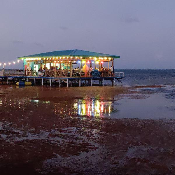 beach walk to wayos ambergris caye