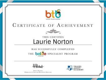 belize specialist certificate