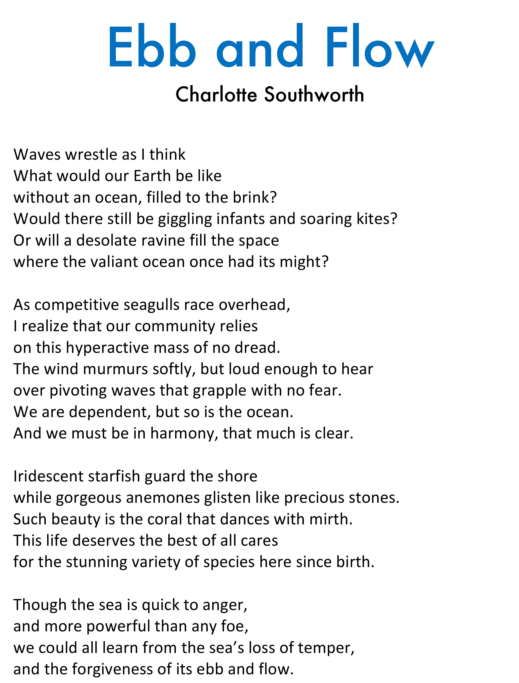 Charlotte Southworth - Ebb and FLow