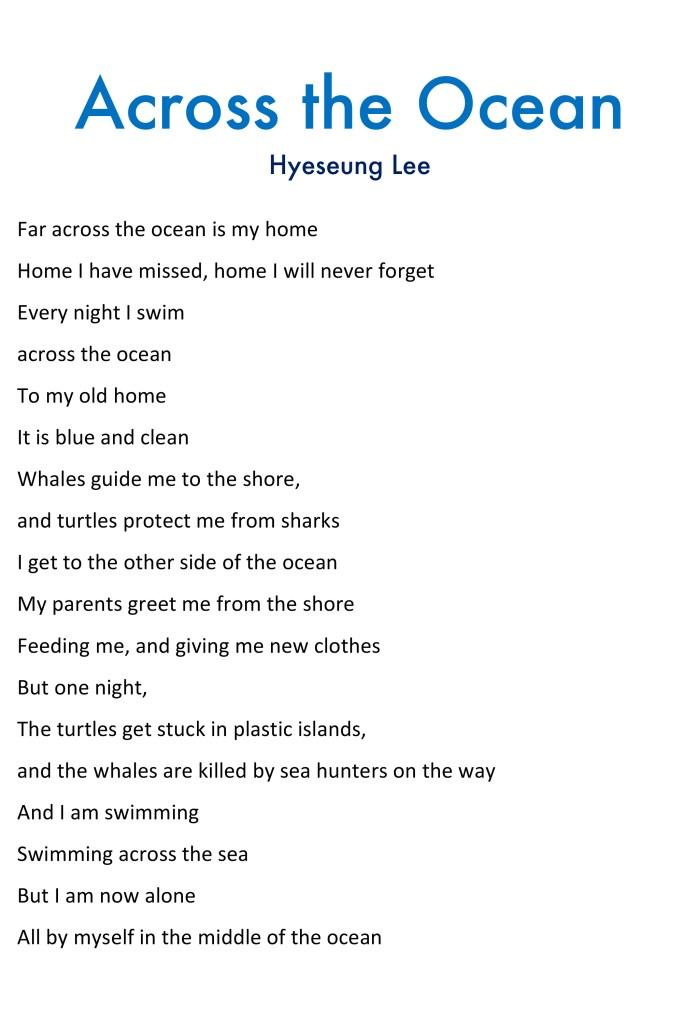 across the ocean poem