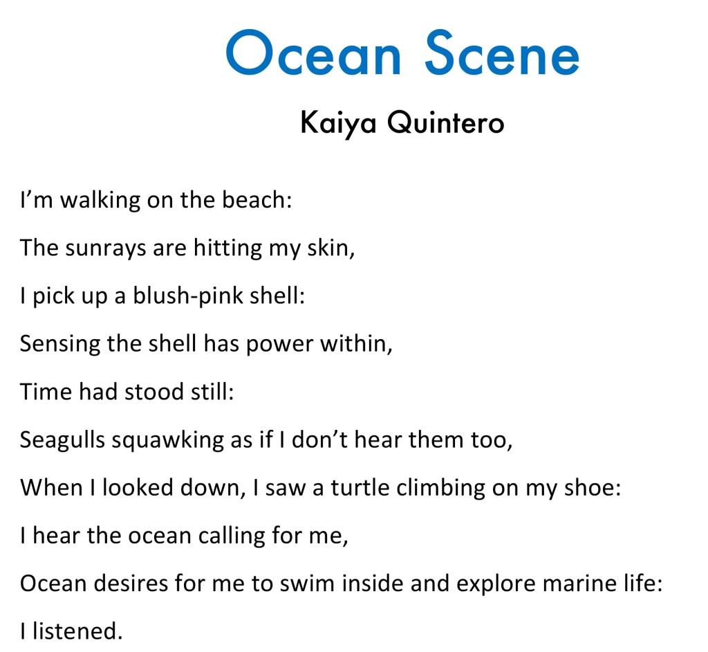 ocean scene poem