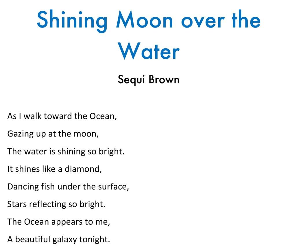 shining moon poem