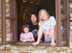 Evie with Tina and Kaela