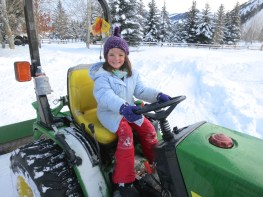 Driving Gramp's tractor