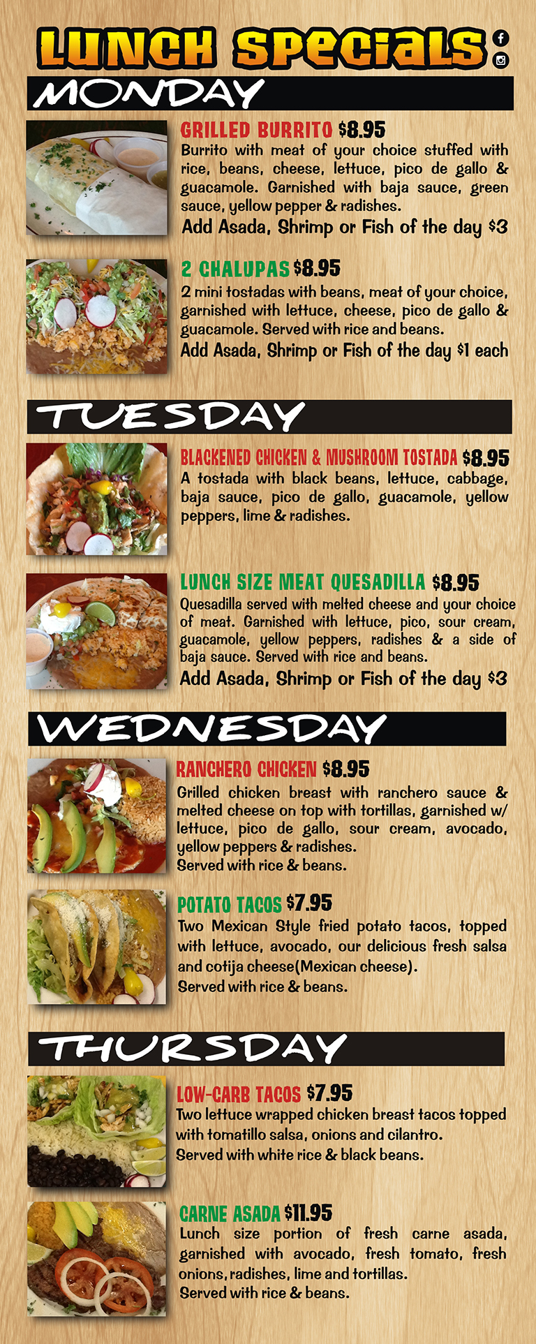 Good Lunch Specials Near Me