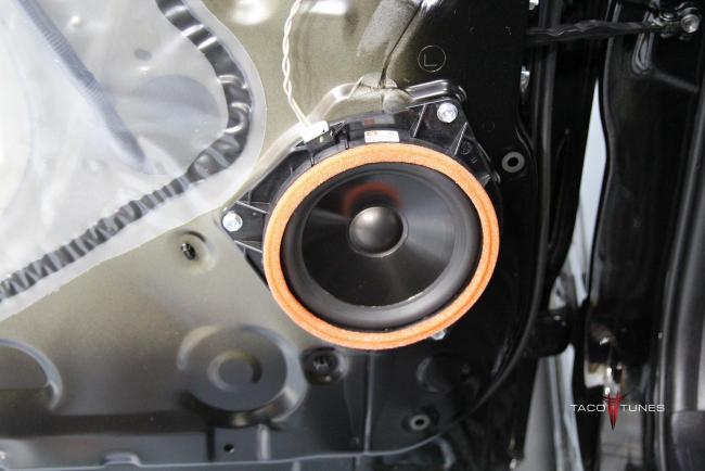 Toyota Tundra CrewMax Rear Door Speaker Close up