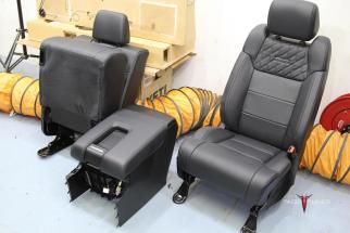 Toyota Tundra CrewMax seats removed 1