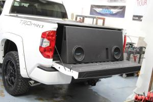 """Toyota Tundra CrewMax Subwoofer Upgrade / Installation – FULL SIZE 10"""" Subs"""