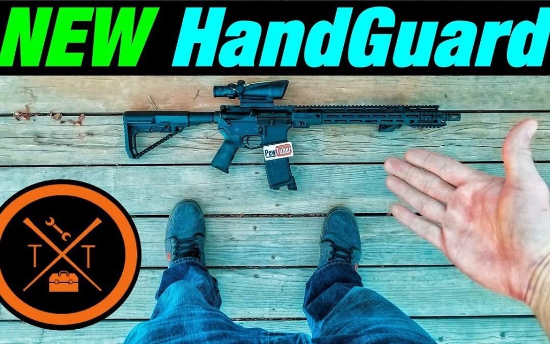 Teal Ar 15 Handguard