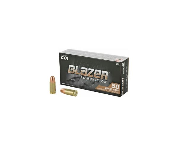 CCI Blazer Brass 9mm Luger Ammunition 50 RDs 147 Grain