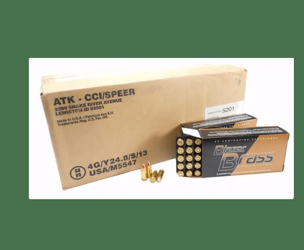 CCI Blazer Brass Handgun Ammunition 9mm Luger 124 gr FMJ 1000/box