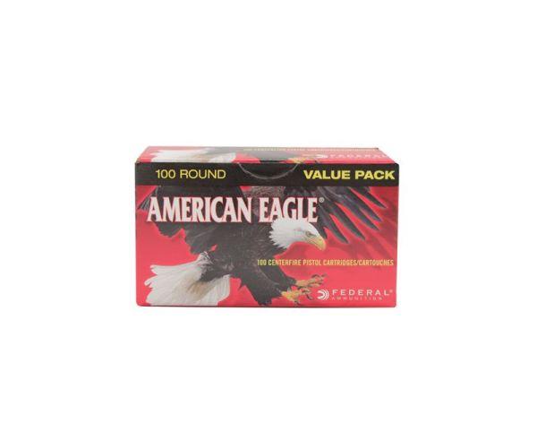 Federal American Eagle 115 Grain FMJ Brass 9mm 100Rds