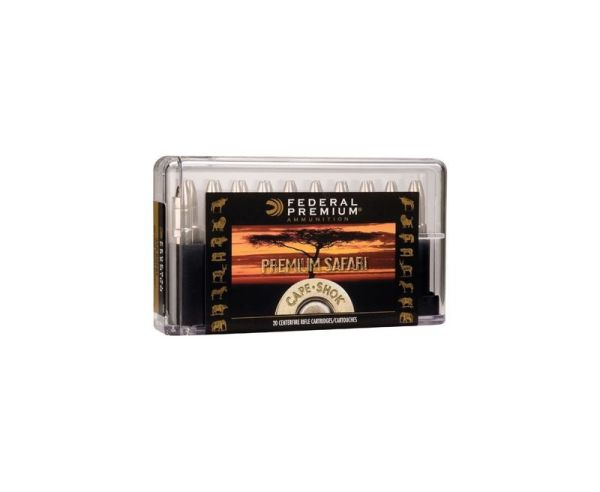 Federal .470 Nitro Express Cape-Shok 500 Grain Swift A-Frame Bullet 20rd box 2150 fps