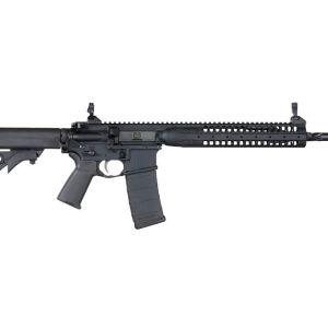 LWRC IC-SPR AR-15 Black 5.56 NATO Semi Auto Rifle, 16-Inch Spiral Fluted Barrel 30 Rd