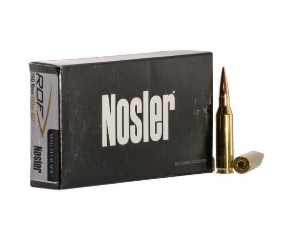 Nosler Match Grade 260 Remington Ammunition 130 Grains 20 Rounds