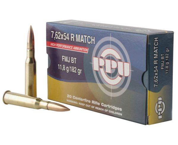 PPU PPM7 Match 182 Grain 7.62x54mmR 20 Rounds Full Metal Jacket
