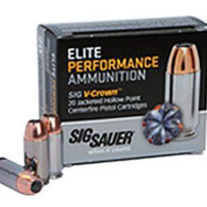 Sig Sauer Elite Performance 9mm 115GR V-Crown JHP 20Rds