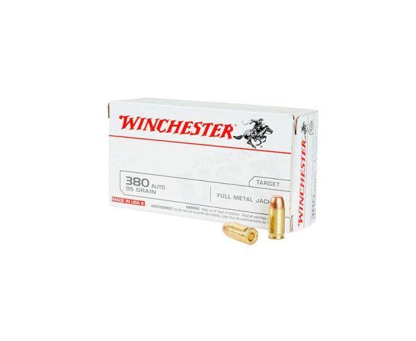 Winchester Ammunition .380ACP 95GR FMJ 50rds