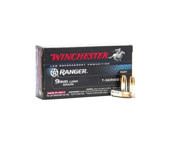 Winchester Ranger 9mm Luger 147 Grain 50 Rounds T-Series Jacketed Hollow Point