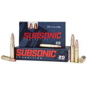 Hornady Subsonic Brass .450 BM 395 Grain 20-Rounds Sub-X
