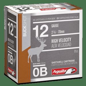 "Aguila Field High Velocity 12 GA 0 Buck 25-Rounds 2.75"""