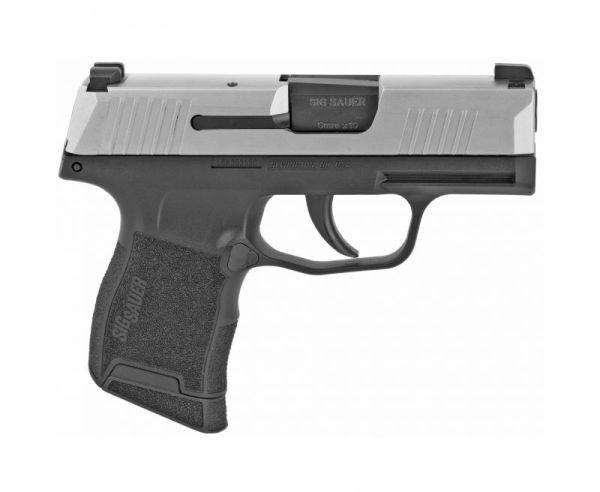 "Sig Sauer P365 Pistol Stainless Slide 9mm 3.1"" 10 RD Sig Night Sights"