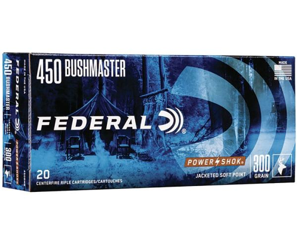 Federal Power-Shok .450 Bushmaster Ammunition 20 RDs