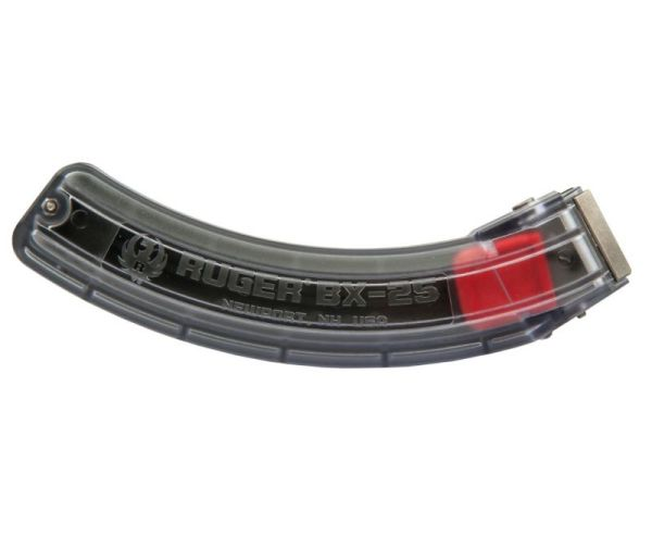 Ruger 10/22 Clear Sided BX-25 Magazine Clear / Black .22 LR 25Rd