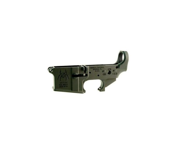 Spikes Tactical Spider AR-15 Stripped Lower Receiver Black