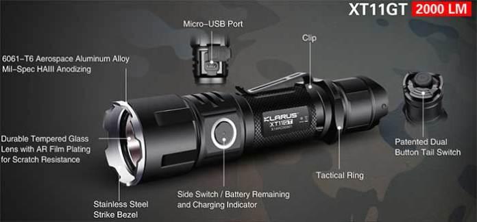 2000 lumen tactical flashlights