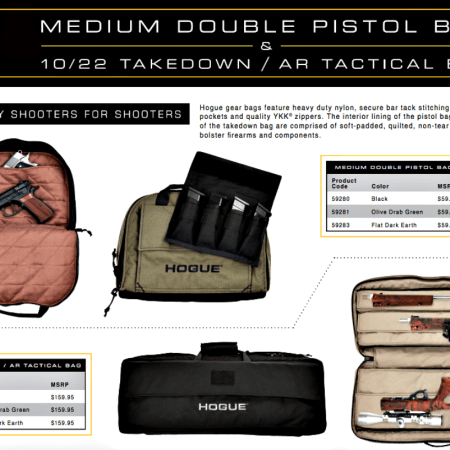 Hogue Double Pistol Bags for Pistols, Ruger 10/22 / AR Tactical Bag.