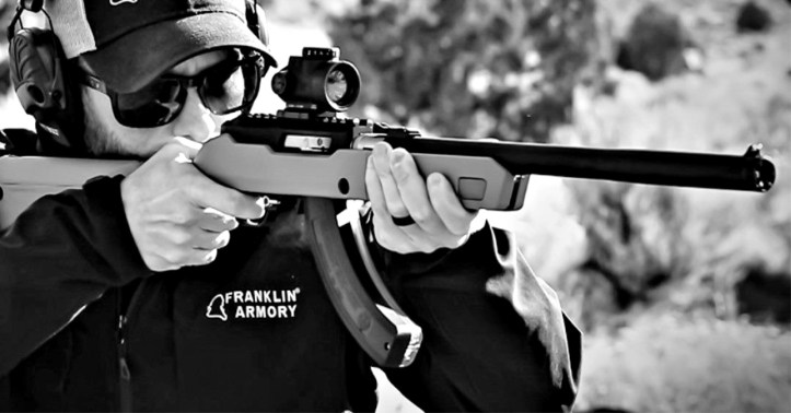 Franklin Armory's new Binary Trigger, the BFSIII 22-C1 is compatible with Ruger 10/22 platforms.